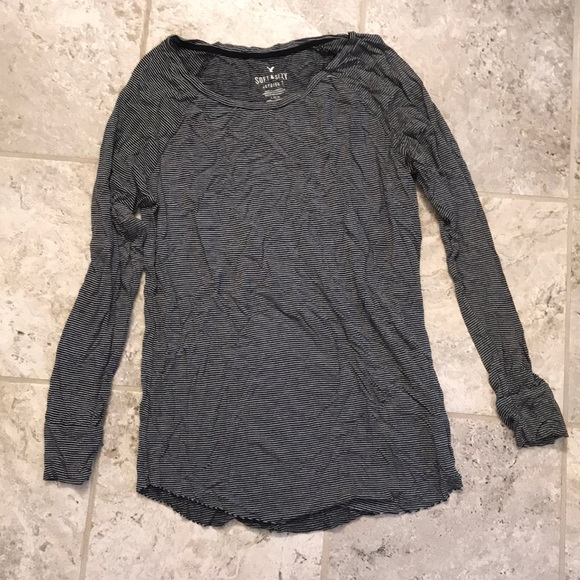 American Eagle Outfitters Tops - american eagle soft & sexy striped long sleeve
